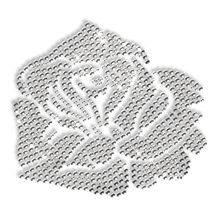 Clear Smoke Rhinestone Flower Iron on Motifs
