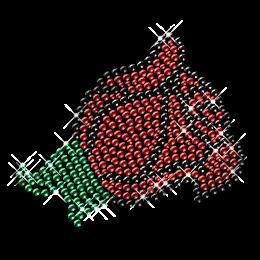 Simple Rhinestone Flower Iron on Motifs
