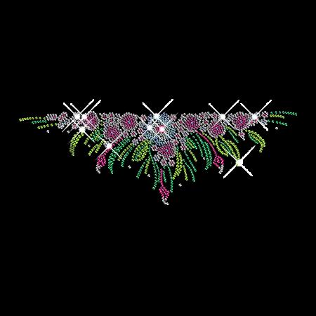 Rhinestone Blossom Flower Iron on Motifs