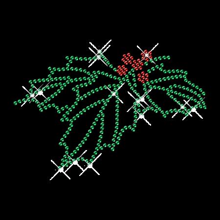 Rhinestone Raspberry Flower Iron on Motifs