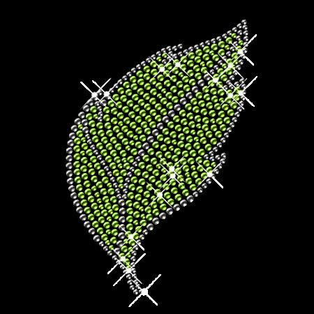 Rhinestone Flower Leaf Iron on Transfer