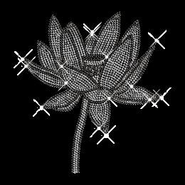 Rhinestone Lotus Flower Iron on Transfer