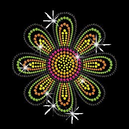 Bright Flower Neonstud Hotfix Transfer