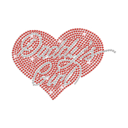 So Lucky to Be Daddy\'s Girl Iron on Rhinestone Transfer