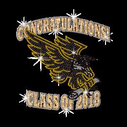 Embrace Graduation like Eagle Crystal Decal