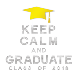 Sale Keep Calm And Graduate Diamante Transfer