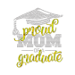 Stock Proud Graduate Mom Crystal Decal