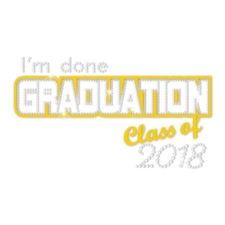 Sale I Am Done Graduation Nailhead Motif