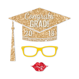 Stock Congrats Grad Diamante Motif