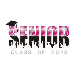 Stock Senior Graduates Hot-fix Rhinestone Design