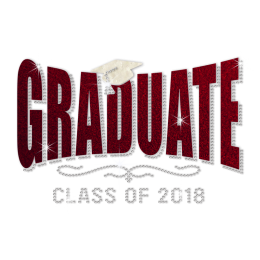 Stock Glitter Graduate Class of 2018 Crystal Design