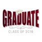 Stock Glitter Graduate Class of 2018 Crystal Design