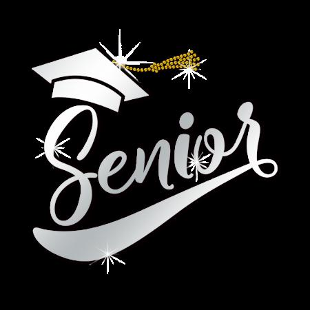 Order Reflective Senior Graduation Cap Crystal Motif