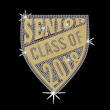 Sale Golden Senior Class Diamante Badge