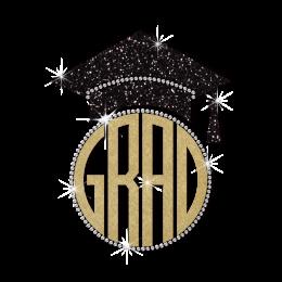 Wholesale Glitter Grad Cap Diamante Design