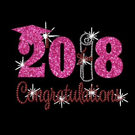 Stock Congrats 2018 Graduates Crystal Motif