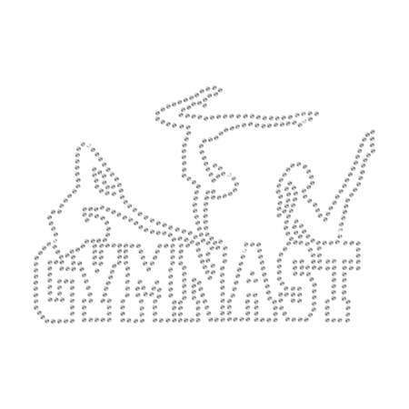 Rhinestone Team Gym Hot-fix Motif