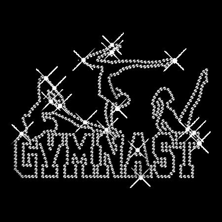 Rhinestone Pure Crystal Gymnastics Girls Iron on Transfer Design for Shirts