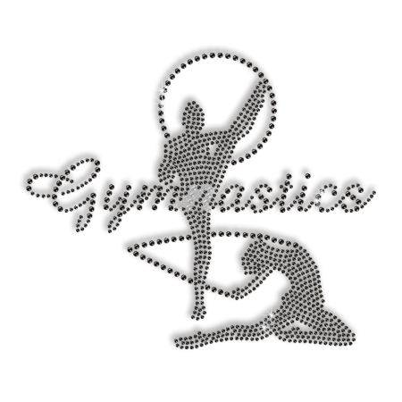 Gorgeous Gymnastics Girl Iron Strass Motif for Shirts
