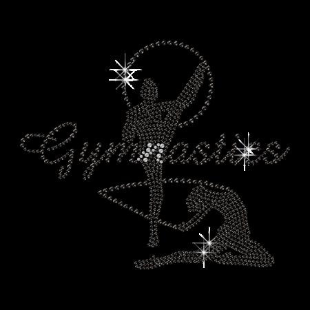 Gorgeous Gymnastics Girl Iron Strass Motif for Shirts