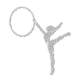 Crystal Gymnastics Beauty Rhinestone Iron Pattern