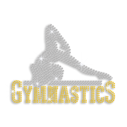 Crystal Gymnastics Movement Iron-on Rhinestone Transfer