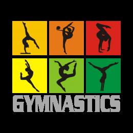 Silhouettes for Gymnastics Bling Rhinestone Heat Transfer