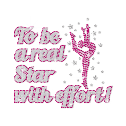 ISS To Be A Real Star with Efforts Rhinestud Pattern
