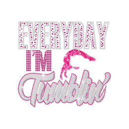 ISS Everyday I Am Tumbling Rhinestud Motif