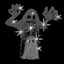 Crystal Ghost Rhinestone Hot-fix Pattern