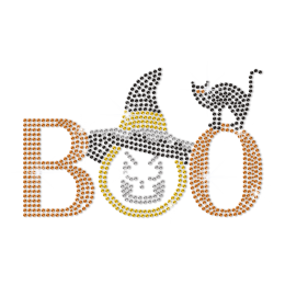 Creepy Boo Letter Iron On Rhinestud Transfer