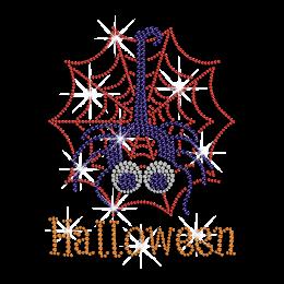 Halloween Spider Iron on Rhinestone Transfer Decal