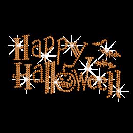Bling Happy Halloween Iron on Rhinestud Transfer Motif