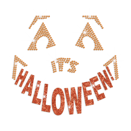 Glittering Halloween Funny Face Iron on Rhinestone Transfer Decal