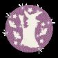 Halloween Witch Iron on Glitter Rhinestone Transfer Motif