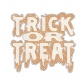 Glittering Trick Or Treat Iron on Rhinestud Transfer Motif