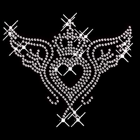 Clear Crystal Hotfix Heart Pattern Transfer Pattern