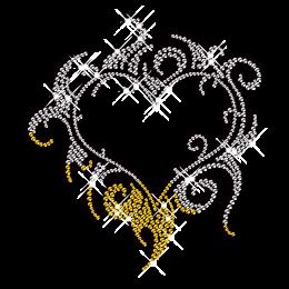 Dreamlike Heart Iron on Diamond Custom Transfer