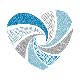 Swirling Heart Detail Rhinestone Bling Hotfix Pattern
