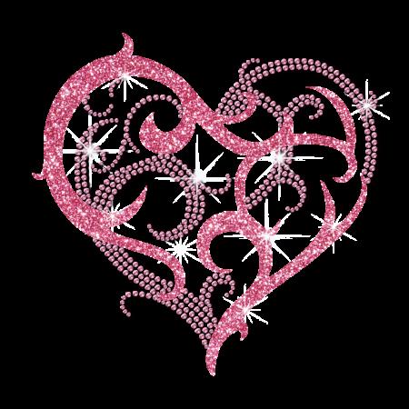 Custom Iron on Sweet Heart Rhinestone Design
