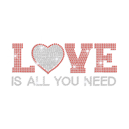 A Love Heart Is All You Need Iron-on Rhinestone Transfer
