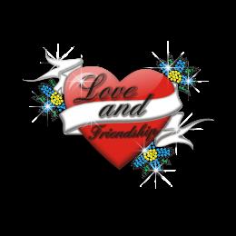 Beautiful Love and Friendship Nailhead Heat Transfer