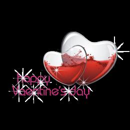 Heart Shaped Valentine\'s Day Crystal Ball Heat Transfer Combo