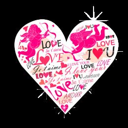 Romantic I Love You & Cupid & Heart Heat Transfer