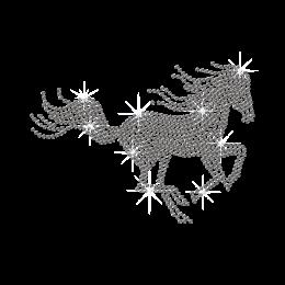 Iron on Running Horse Rhinestone Pattern