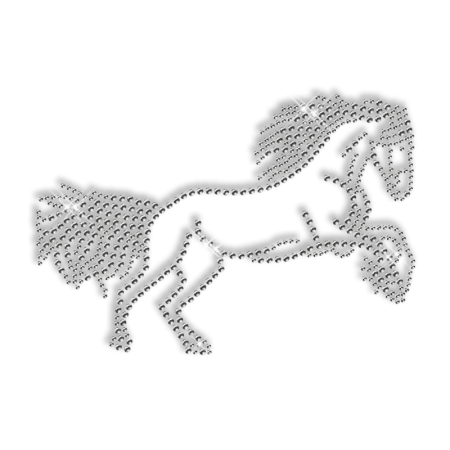Horse Rhinestone Transfer Iron on Wholesale
