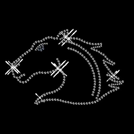 Crystal Iron on Horse Custom Bling Design