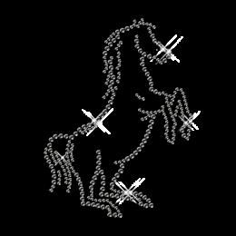 Hotfix Rhinestone Horse Motif Design