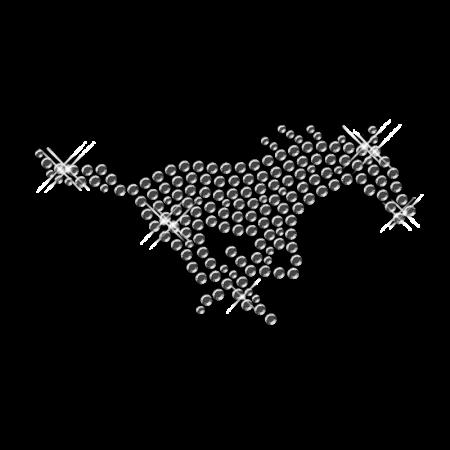 Running Horse Image Rhinestone Design Iron on