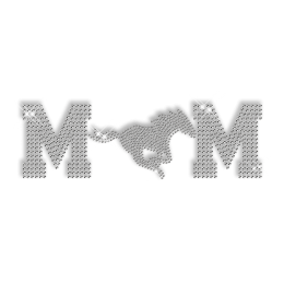 Bling Custom Horse Mom Iron on Crystal Design